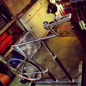 View of the Bare Frame on Our New Sizing Bike