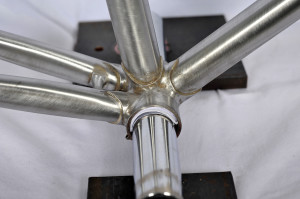 Bottom Bracket Shell Detail, Alan Woods Vintage Stevenson Road Frame (Photo courtesy of Alan Woods)