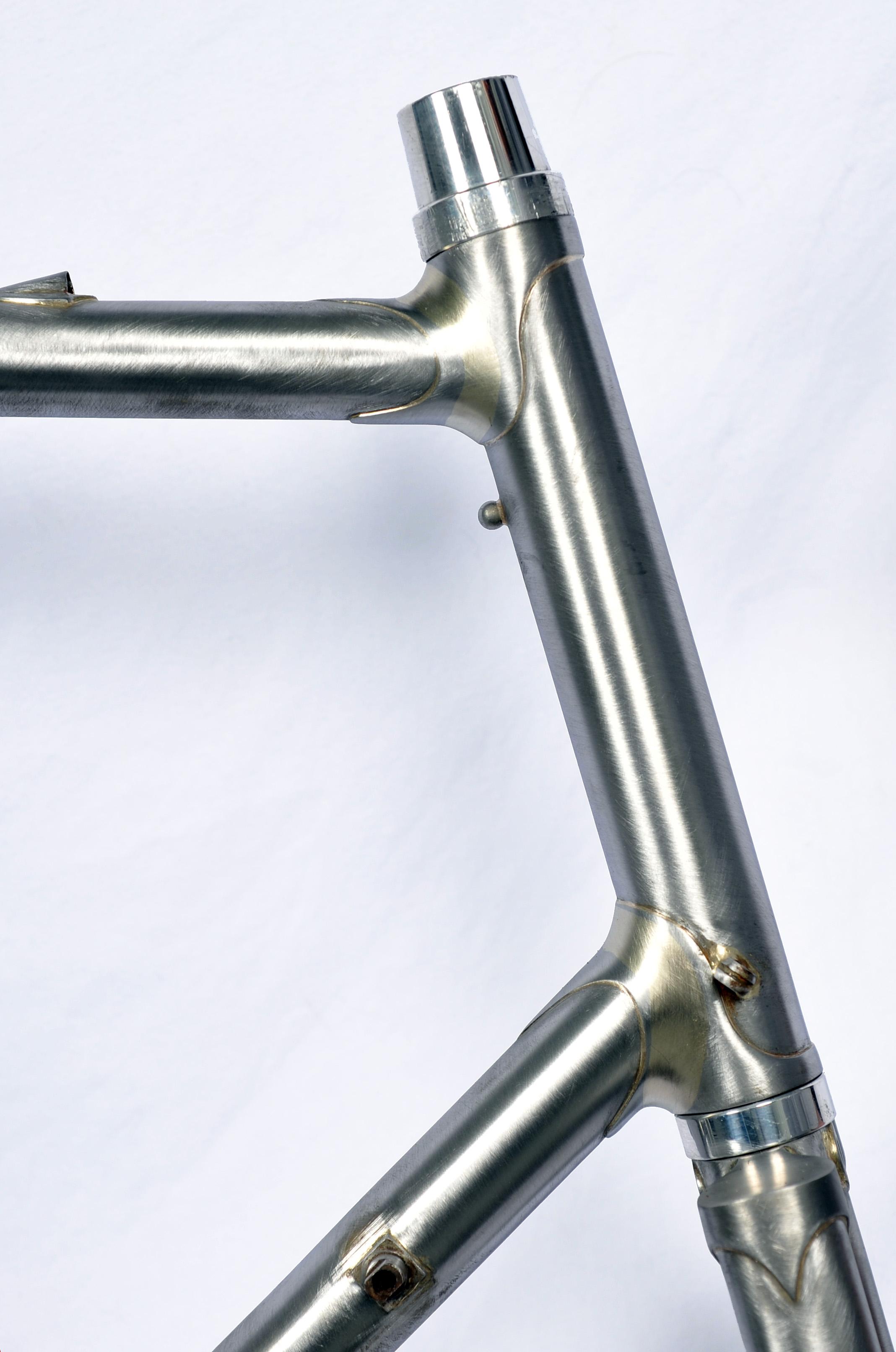Stevenson Custom Bicycle Head Tube Detail