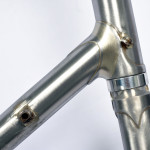 Stevenson Custom Bicycle Frame Lower Head Lug Detail