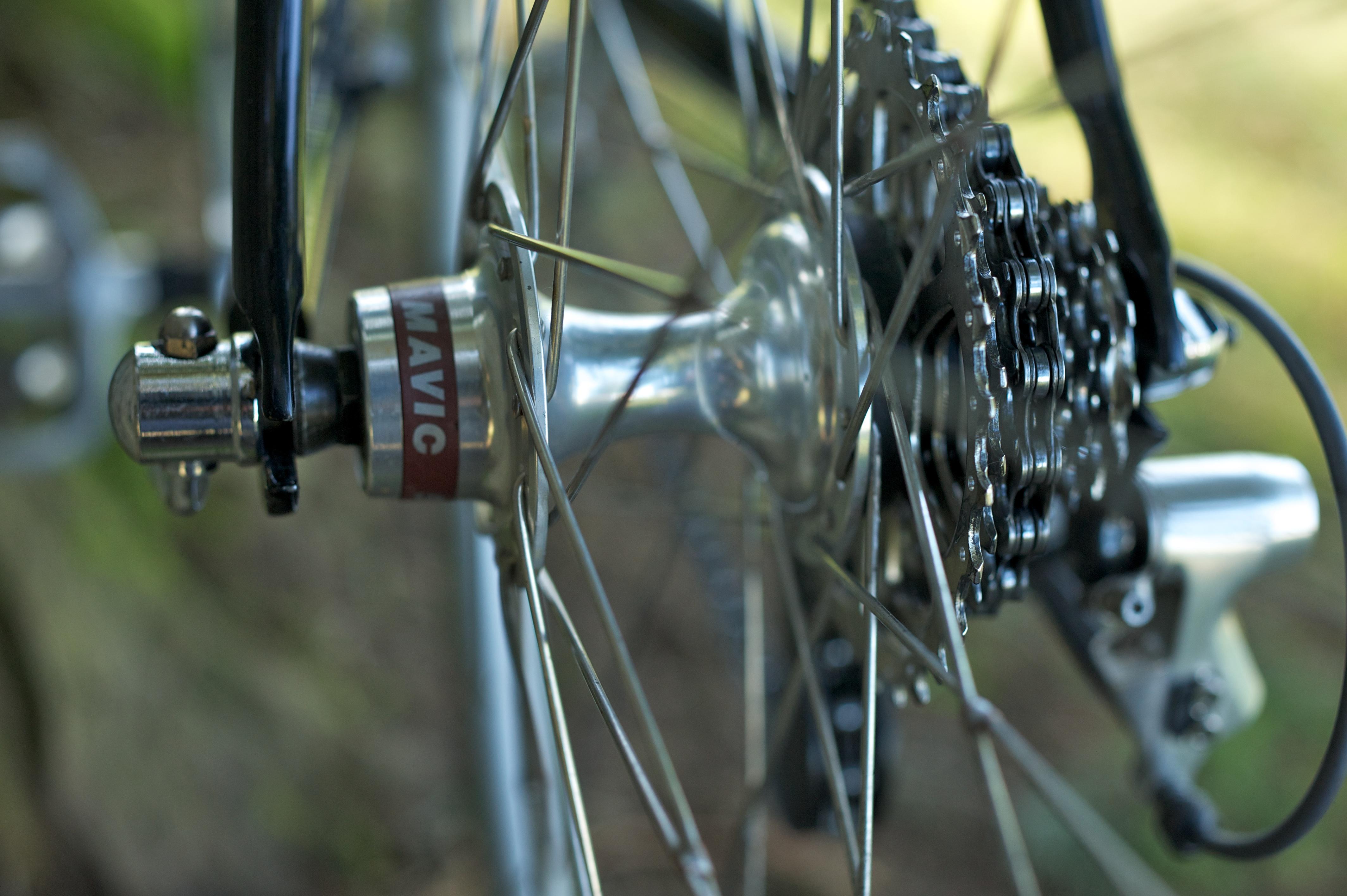 Stevenson Custom Bicycles Cycle Sportive Bike Mavic Hub Detail