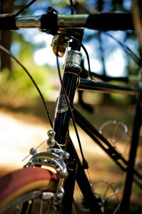 Head Tube Detail, Bill and Shawn Stevenson's Personal 650B Tandem (Photo courtesy of Doug Rosenfield)