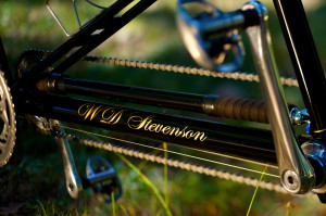 Boom Tube Detail, Bill and Shawn Stevenson's Personal 650B Tandem (Photo courtesy of Doug Rosenfield)