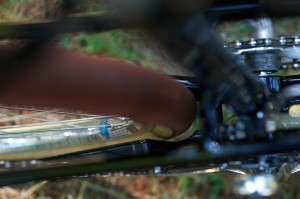 Chainstay Modification Detail, Bill and Shawn Stevenson's Personal 650B Tandem (Photo courtesy of Doug Rosenfield)