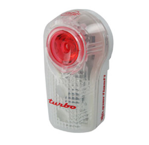 The Planet Bike Superflash Turbo is a more powerful version of the Superflash.