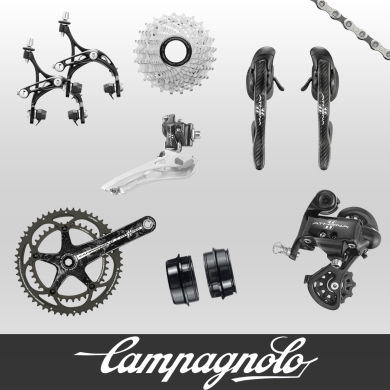 Groups Available From Campagnolo, Shimano, and SRAM