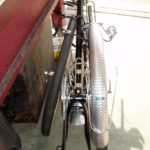 Back view of the Rinko packed bicycle